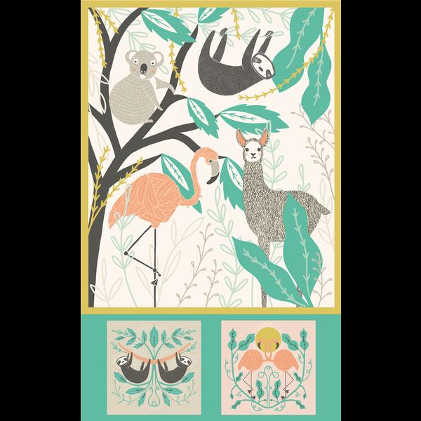 Moda - Zoology - XL PANEL - Baby Blanket / Multi / 48301-11