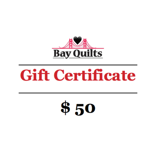 Bay Quilts - $50 - Gift Card