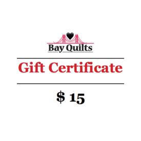Bay Quilts - $15 - Gift Card