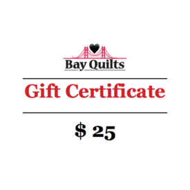 Bay Quilts - $25 - Gift Card