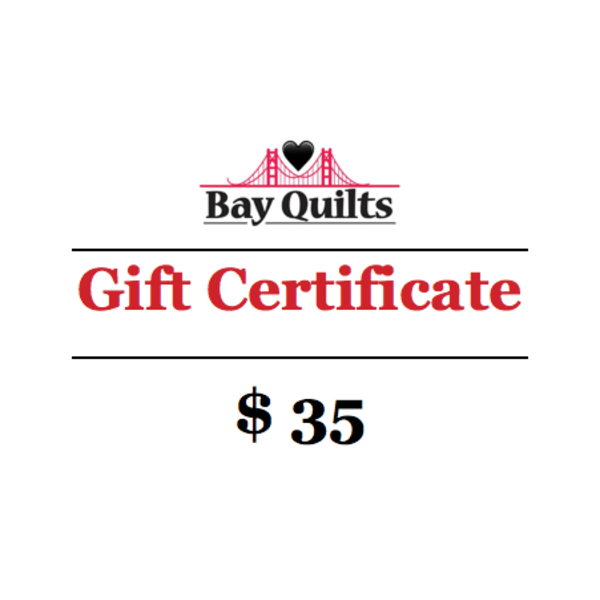 Bay Quilts - $35 - Gift Card