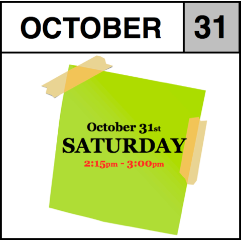 In-Store Appointment - October 31st - Saturday (2:15pm-3:00pm)
