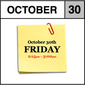 In-Store Appointment - October 30th - Friday (2:15pm-3:00pm)