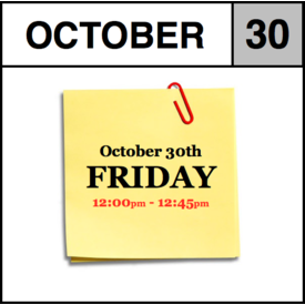 In-Store Appointment - October 30th - Friday (12:00pm-12:45pm)