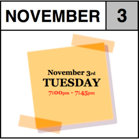 In-Store Appointment - November 3rd, Tuesday (7:00pm-7:45pm)
