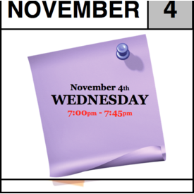 In-Store Appointment - November 4th, Wednesday (7:00pm-7:45pm)
