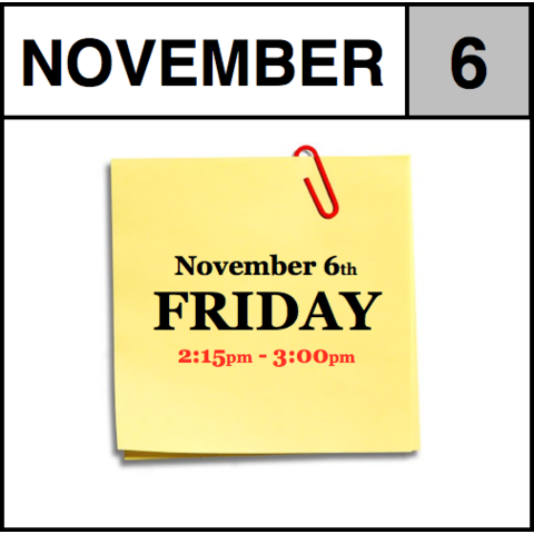 In-Store Appointment - November 6th - Friday (2:15pm-3:00pm)