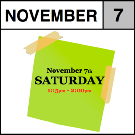 In-Store Appointment - November 7th - Saturday (1:15pm-2:00pm)