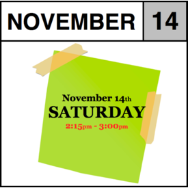 In-Store Appointment - November 14th - Saturday (2:15pm-3:00pm)