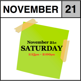 In-Store Appointment - November 21st - Saturday (1:15pm-2:00pm)
