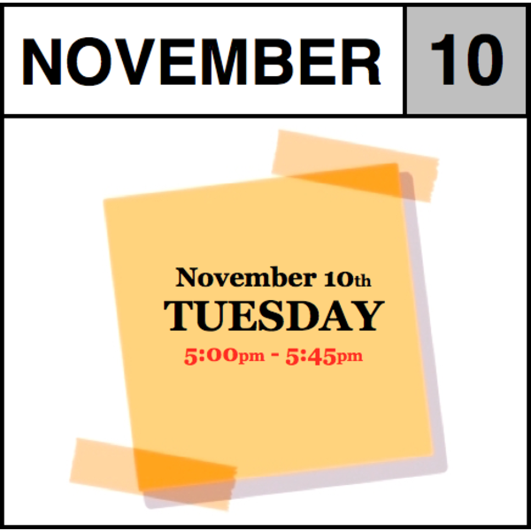 In-Store Appointment - November 10th, Tuesday (5:00pm-5:45pm)