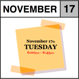 In-Store Appointment - November 10th, Tuesday (6:00pm-6:45pm)