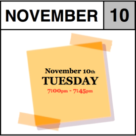 In-Store Appointment - November 10th, Tuesday (7:00pm-7:45pm)