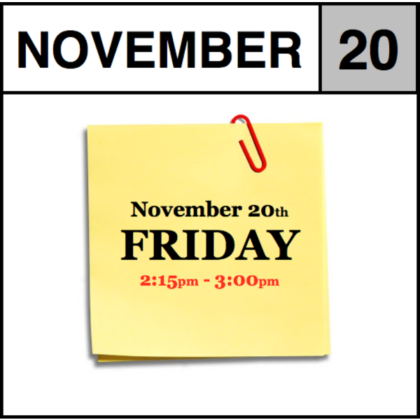 In-Store Appointment - November 20th - Friday (2:15pm-3:00pm)