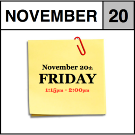 In-Store Appointment - November 20th - Friday (1:15pm-2:00pm)