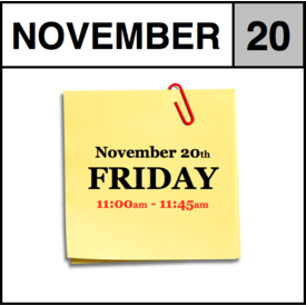 In-Store Appointment - November 20th - Friday (11:00am-11:45am)