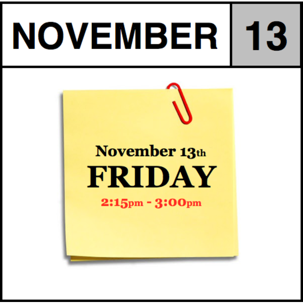 In-Store Appointment - November 13th - Friday (2:15pm-3:00pm)