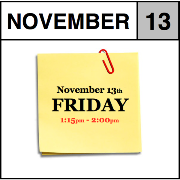 In-Store Appointment - November 13th - Friday  (1:15pm-2:00pm)