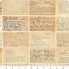 Moda - Flea Market / Mix Parchment / Letters / 7353 11D