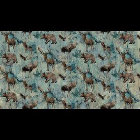 Nothcott - Melanie Samra / Whispering Pines / Wildlife / Teal / DP23752-64