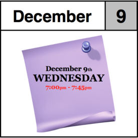 In-Store Appointment - December 9th, Wednesday (7:00pm-7:45pm)