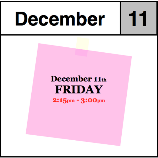 In-Store Appointment - December 11th - Friday (2:15pm-3:00pm)