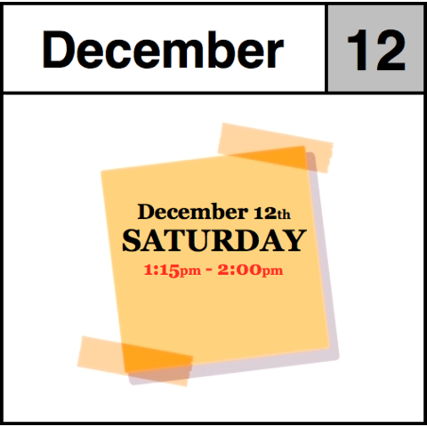 In-Store Appointment - December 12th - Saturday (1:15pm-2:00pm)