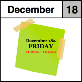 In-Store Appointment - December 18th - Friday (11:00am-11:45am)
