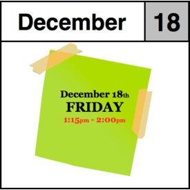 In-Store Appointment - December 18th - Friday (1:15pm-2:00pm)