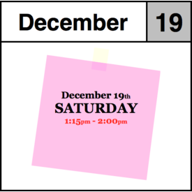 In-Store Appointment - December 19th - Saturday (1:15pm-2:00pm)