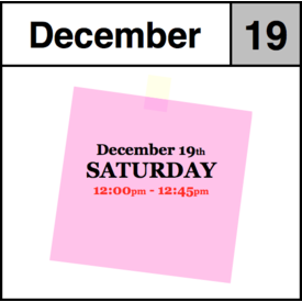 In-Store Appointment - December 19th - Saturday (12:00pm-12:45pm)