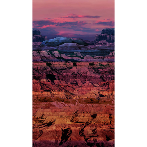 Northcott - The View From Here 2 / Digital Prints / Canyon Ombre / Sienna Purple / DP23768-34