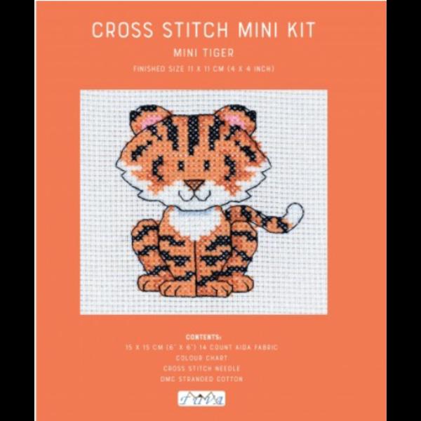Cross Stitch Mini Kit / Tiger