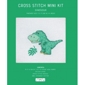 Cross Stitch Mini Kit / Dinosaur