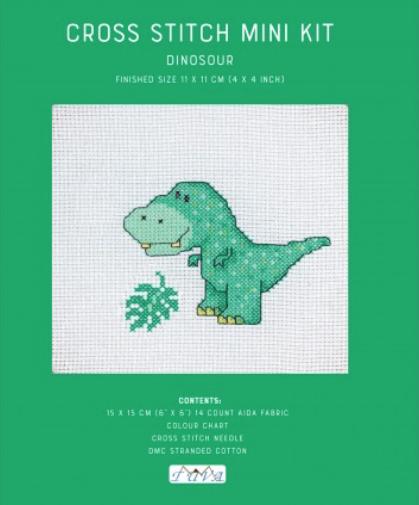 DINOSAURS cross stitch kit