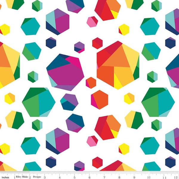 RB - Create / Rainbow Geo Gems / C9801-WHITE