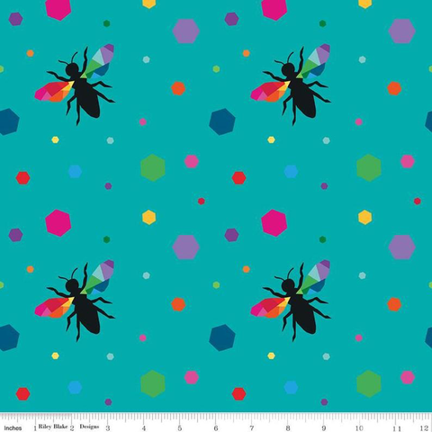 RB - Create / Create Hexie Bees / C9805-Turquoise