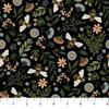 Northcott - Bee Kind / Floral & Bee Toss / Black / 23785-99