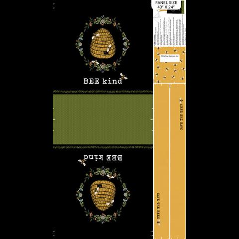 Northcott - Bee Kind / Script / Cream / 23791-11 copy