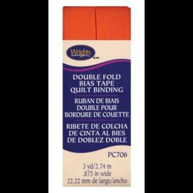 "Bias Tape - (7/8"") Wide Double Fold - Orange"