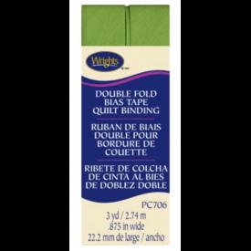 "Bias Tape - (7/8"") Wide Double Fold - Leaf Green"