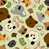 Paintbrush Studios - Menagerie / Animal Faces / Green / 120-99722
