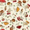 Paintbrush Studios - Menagerie / Mushrooms / Cream / 120-99731