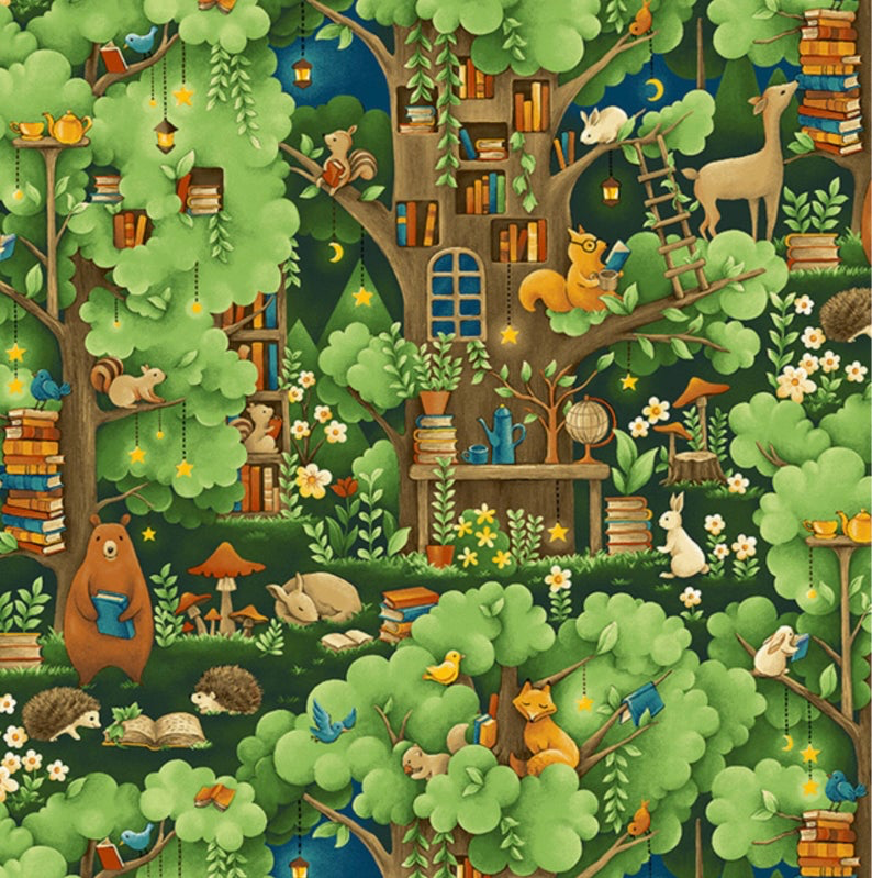 Half Yard Paintbrush Studio Forest Fables Animals