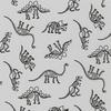 RK - Lighter Side - Dinosaur Bones / Grey / 19196-12