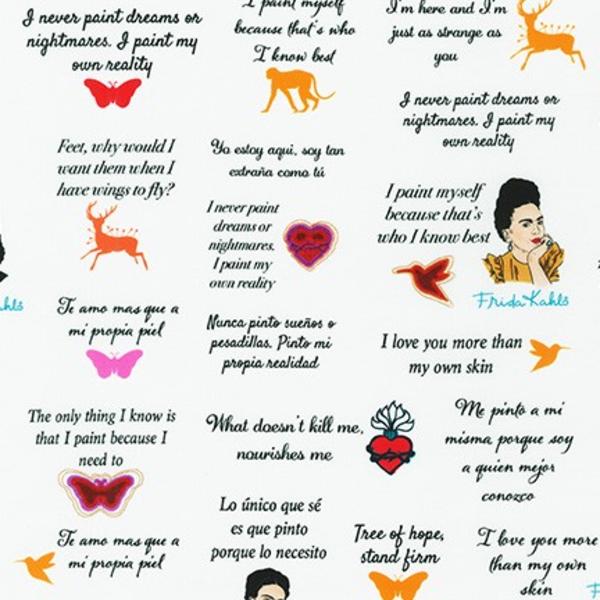 RK - Frida Kahlo / Words & Quotes / 19617-1 White