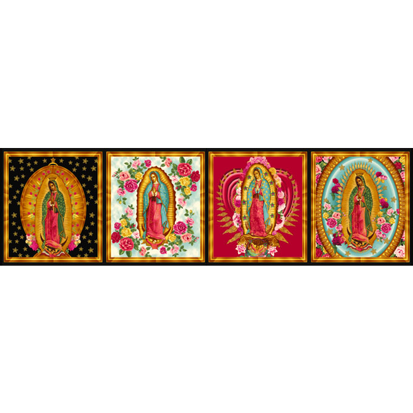 RK - PANEL - Inner Faith / BRIGHT / Small Squares / Lady of Guadalupe / 6482-195 BRIGHT