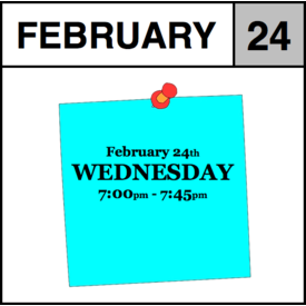 Appointments Appointment - February 24th - Wednesday (7:00pm-7:45pm)
