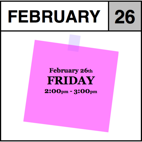 Appointment - February 26th - Friday (2:00pm-3:00pm)