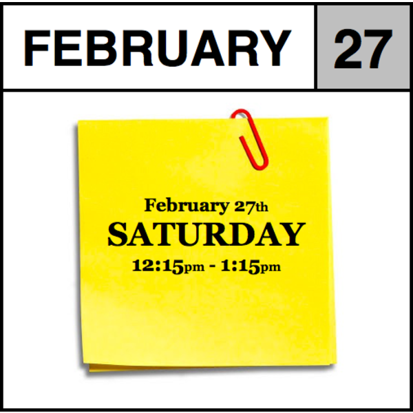 Appointments Appointment - February 27th - Saturday (12:15pm-1:15pm)